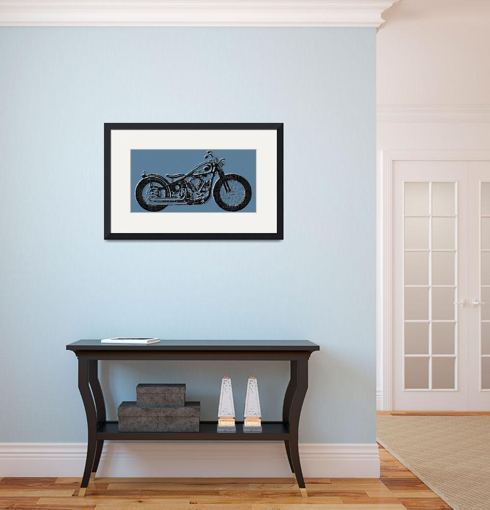 """""""Harley-Davidson and Words&quot  (2014) by RubinoFineArt"""