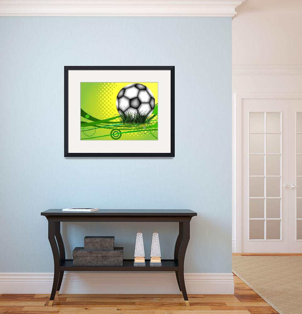"""soccer ball background&quot  by robertosch"