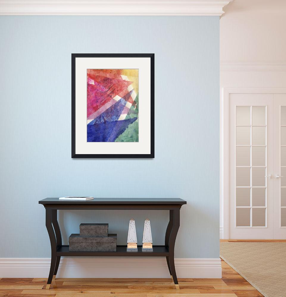 """""""Bright Rainbow Angular Watercolor""""  (2012) by TheArtwerks"""