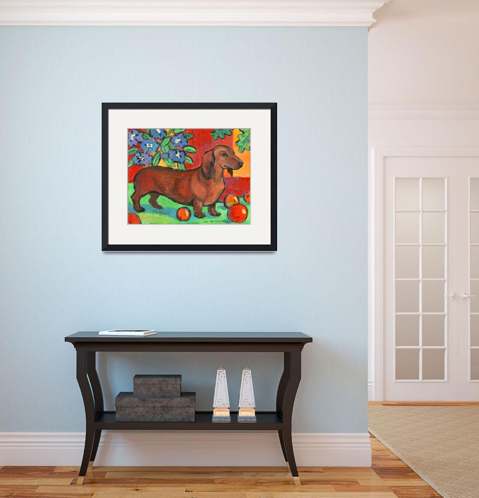 """""""Colorful Dachshund&quot  (2005) by zacharybear"""