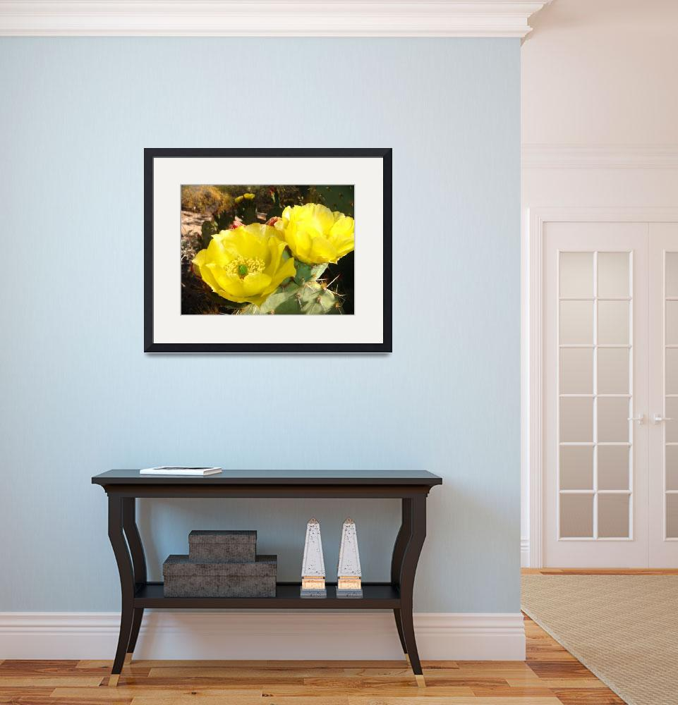 """""""Yellow Prickly Pear Cactus Flower&quot  (2009) by MyHartArt"""