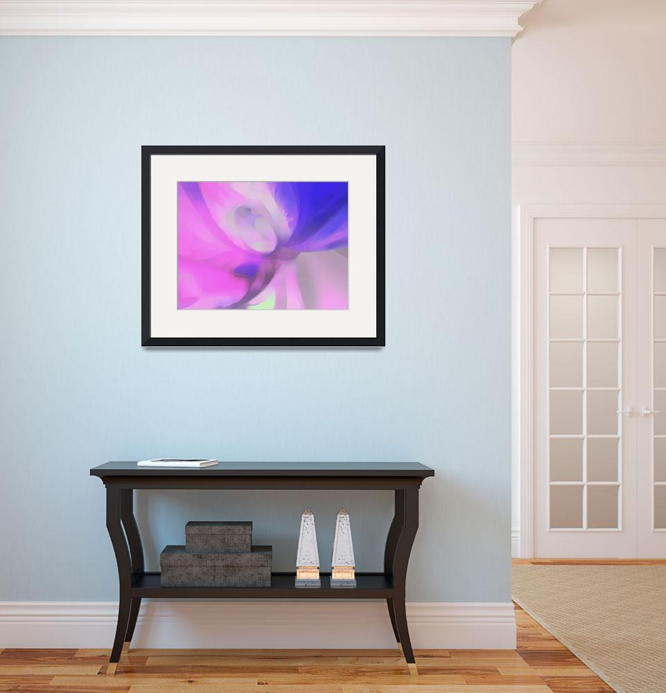 """""""Plum Juices Pastel Abstract&quot  (2013) by AlexButler"""