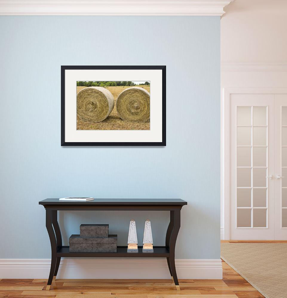 """""""Two Round Hay Bales&quot  (2011) by lightningman"""