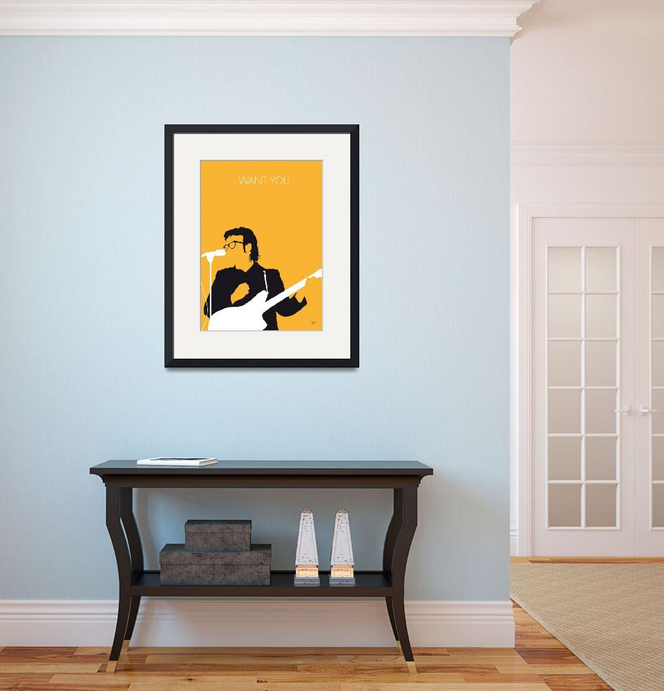 """""""No067 MY ELVIS COSTELLO Minimal Music poster&quot  by Chungkong"""