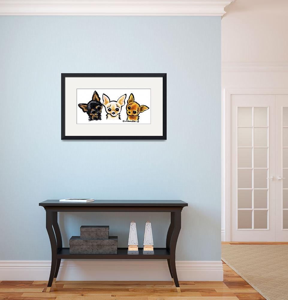 """""""Smooth Chihuahua Trio&quot  (2010) by OffLeashArt"""