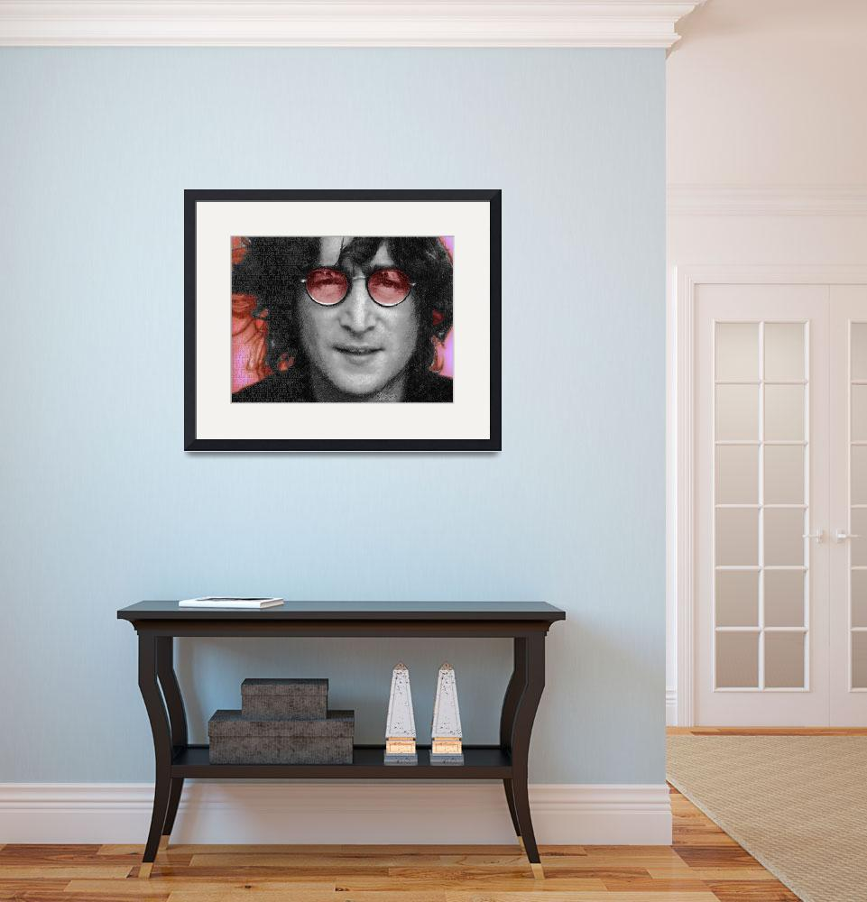 """Imagine John Lennon&quot  (2013) by RubinoFineArt"