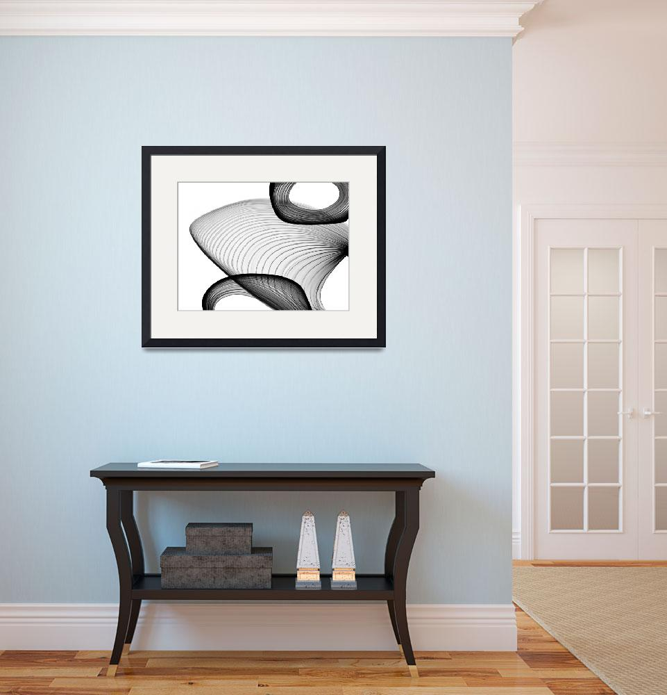 """""""ORL-6051 Abstract Black and White 21-59-33 copy&quot  by Aneri"""