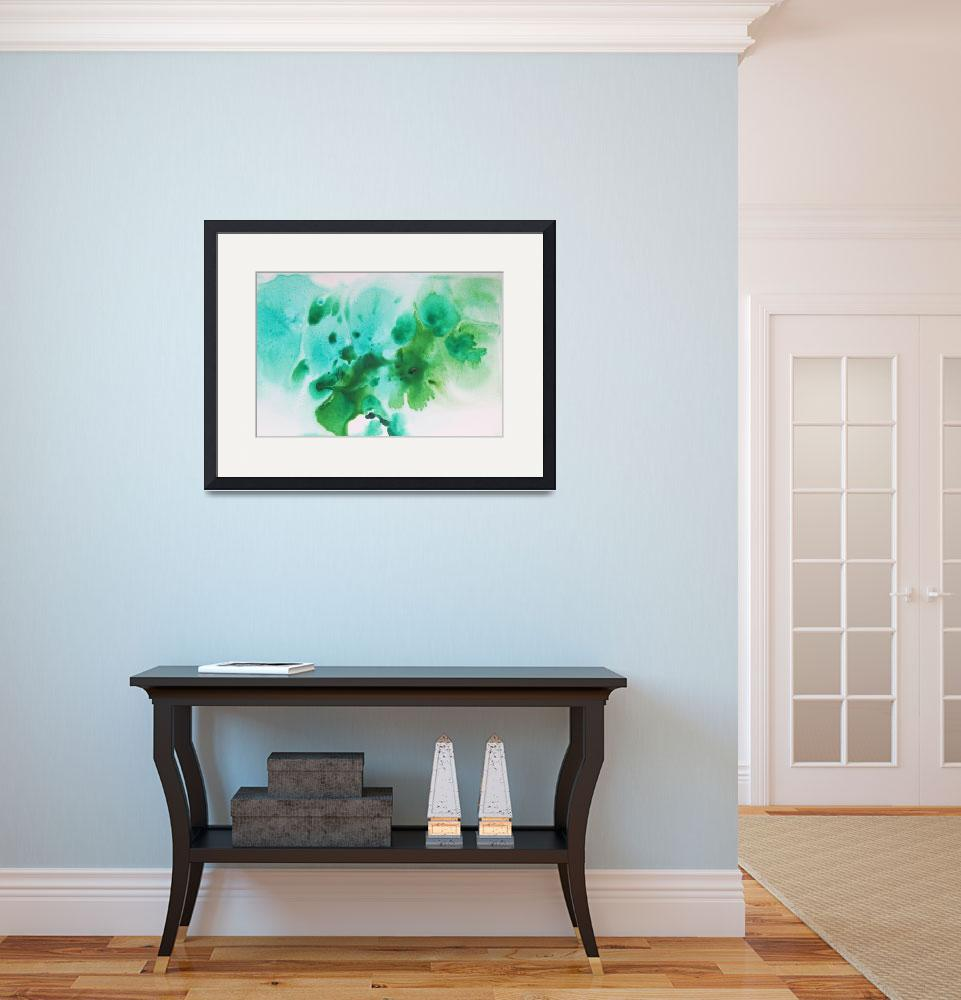 """""""ORL-10373-1 Watercolor Coastal Abstract 52""""  by Aneri"""