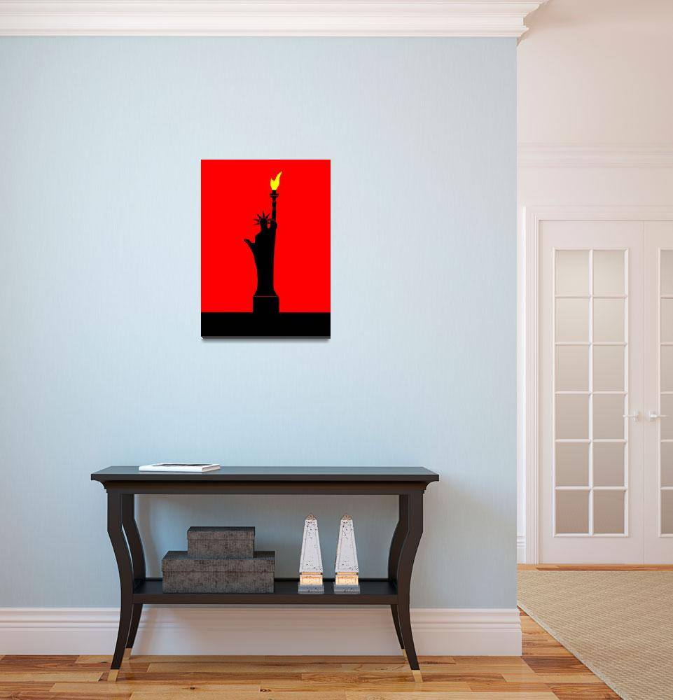 """""""Inspired by the Statue of Liberty in Paris""""  by Lonvig"""