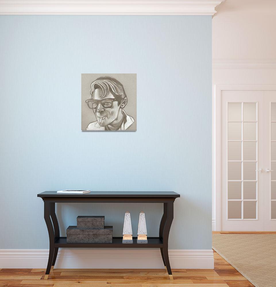 """Corey Feldman drawing""  (2013) by RobCrandall"