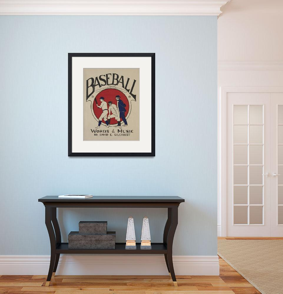 """""""Vintage Baseball Pitcher Illustration (1905)&quot  by Alleycatshirts"""