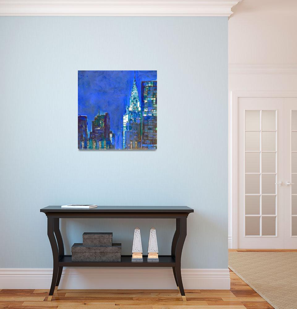 """Blue Lexington New York City""  (2018) by RDRiccoboni"