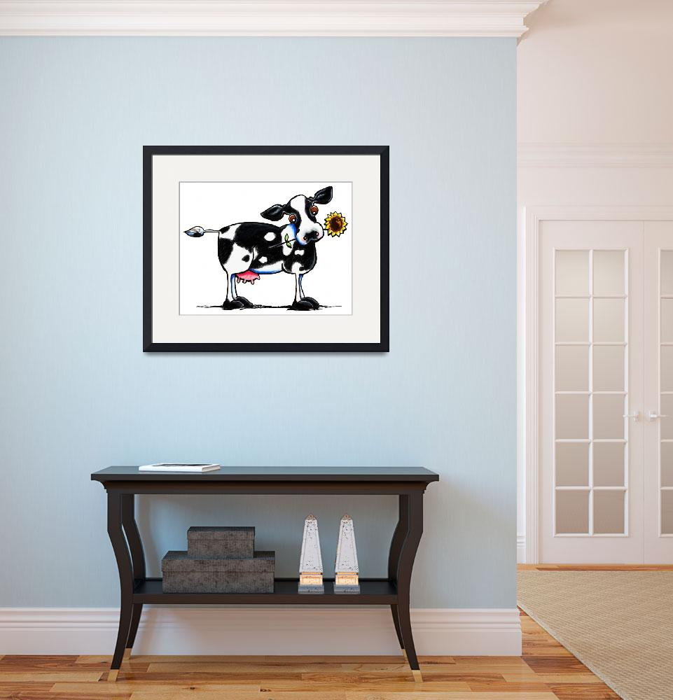 """""""Sunny Cow&quot  (2012) by OffLeashArt"""