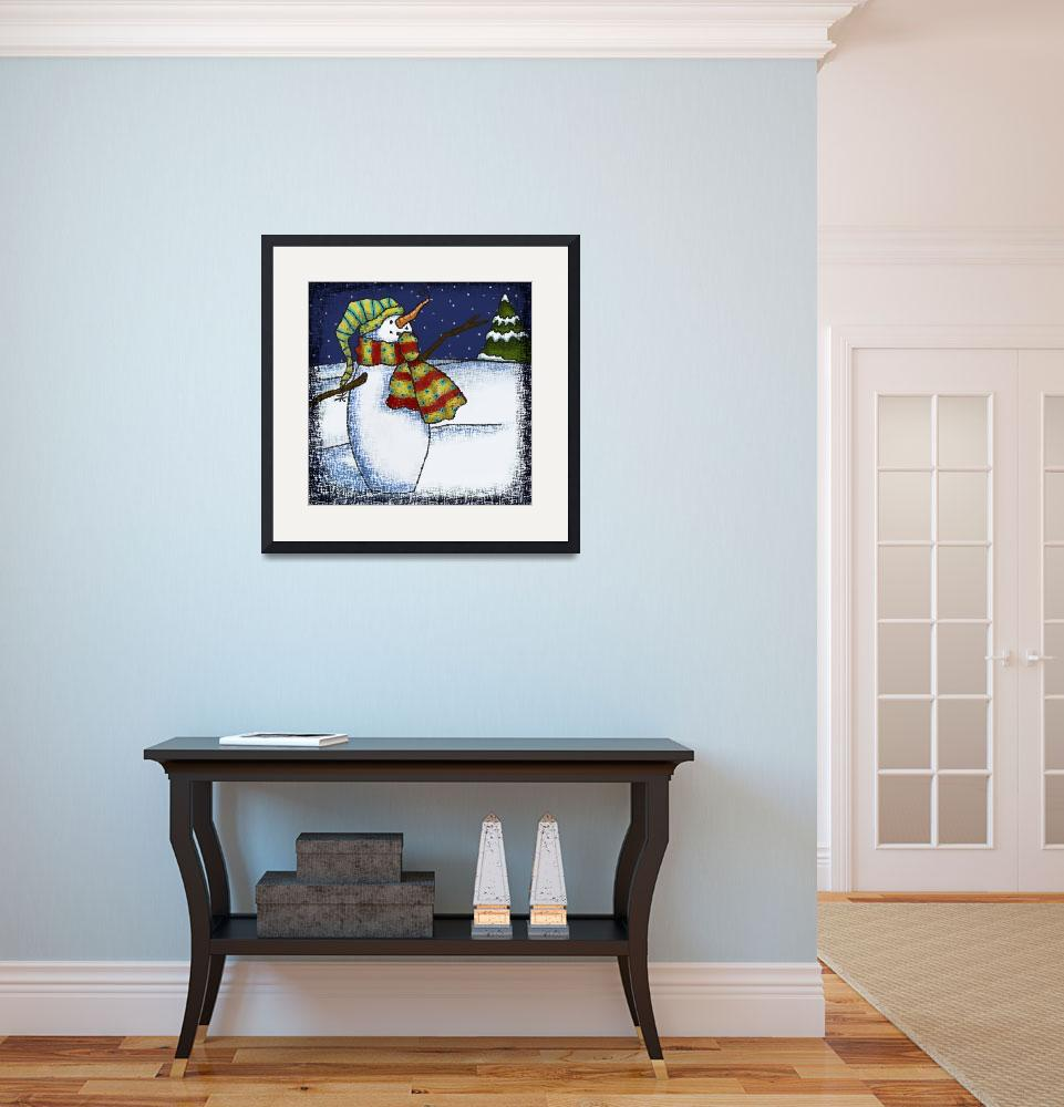 """""""Whimsical Snowman 1&quot  by JennieBaer"""
