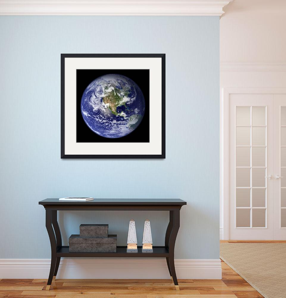 """""""Full Earth showing the western hemisphere.&quot  by stocktrekimages"""