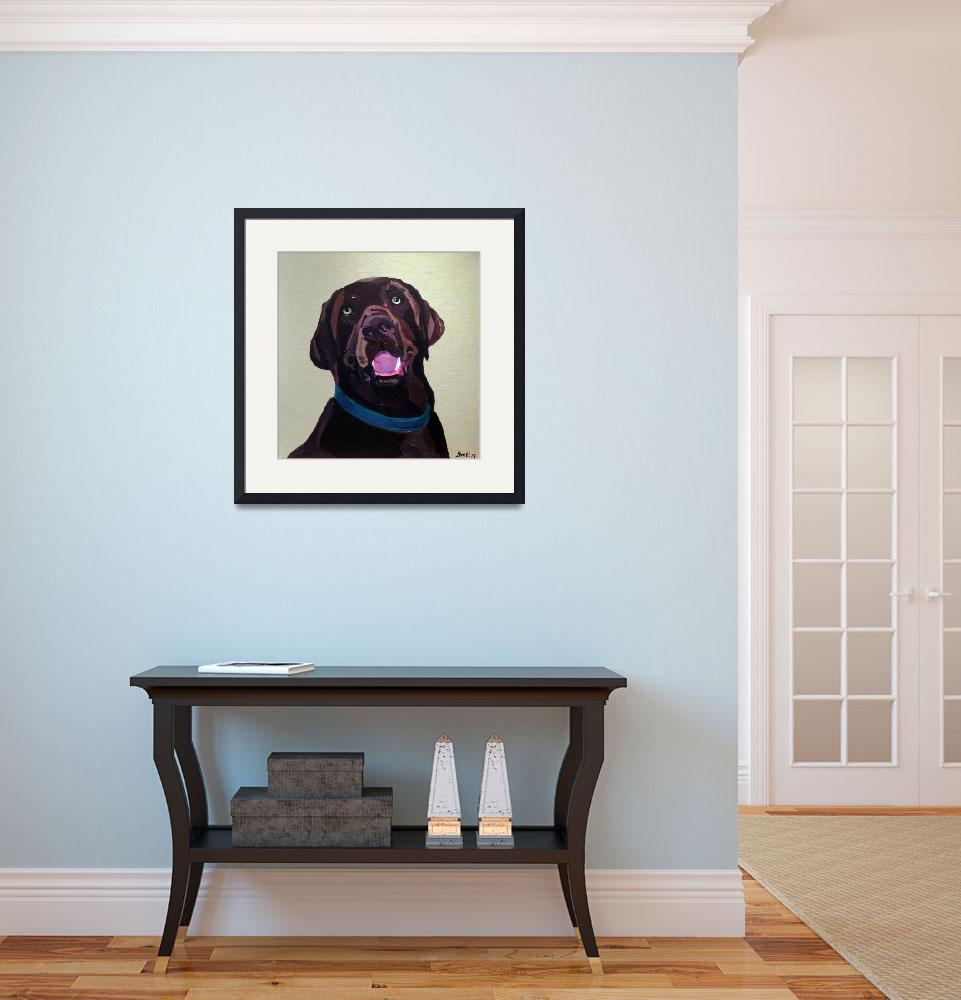 """Chocolate Lab&quot  (2016) by BrettHudsonArt"