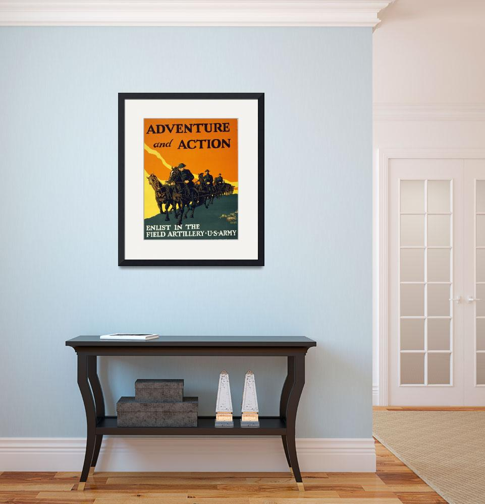 """WORLD WAR ONE POSTER&quot  (1917) by homegear"