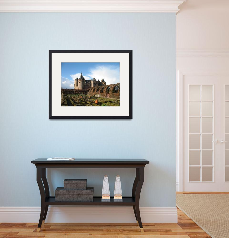 """""""Gardens and medieval castle in autumn.&quot  (2008) by edmondholland"""
