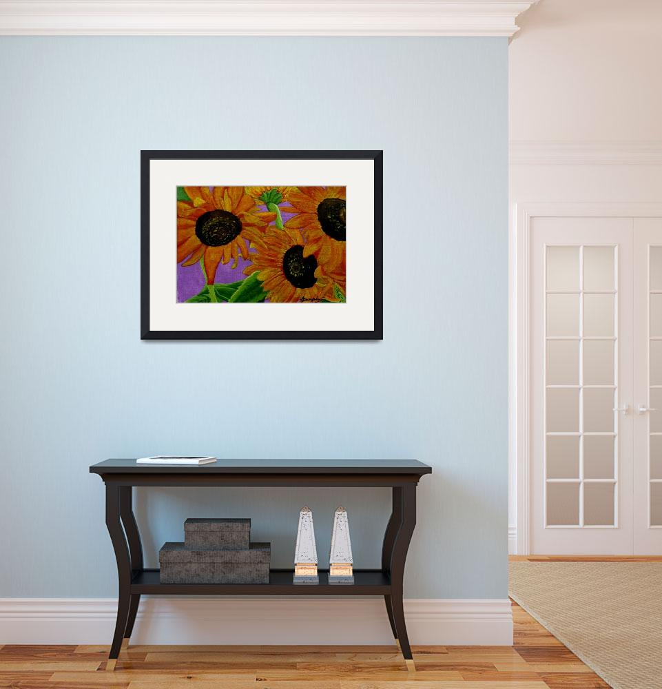 """""""Sunflowers""""  (2014) by anthonydunphy"""