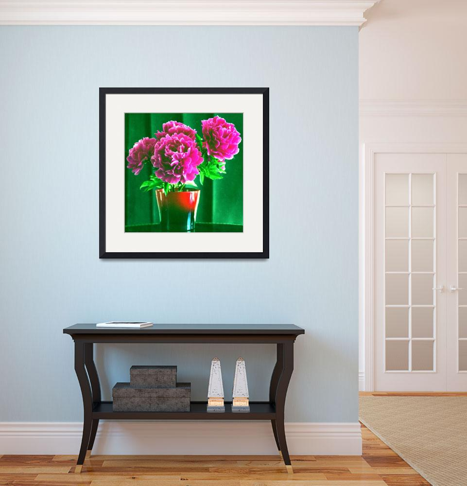 """Red peonies&quot  (2012) by gmart"