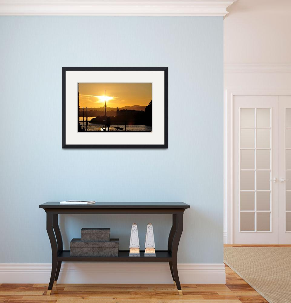"""""""Victoria Harbor Sunset 2""""  (2011) by Kirtdtisdale"""