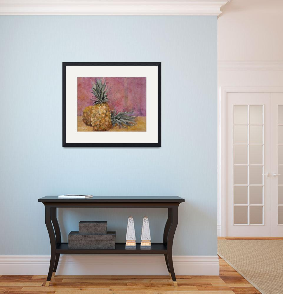 """""""Two Pineapples Still Life&quot  by BlendaStudio"""