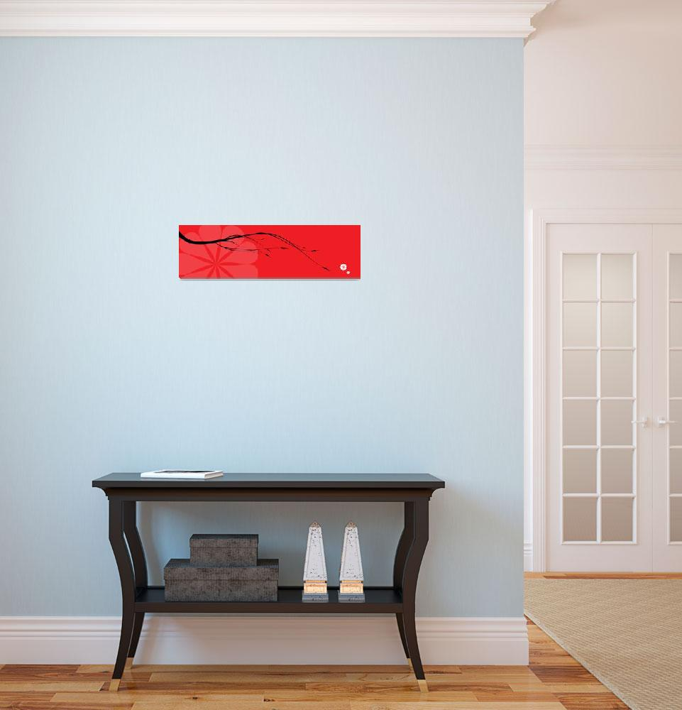 """""""Red japanese branch&quot  (2011) by nomi"""
