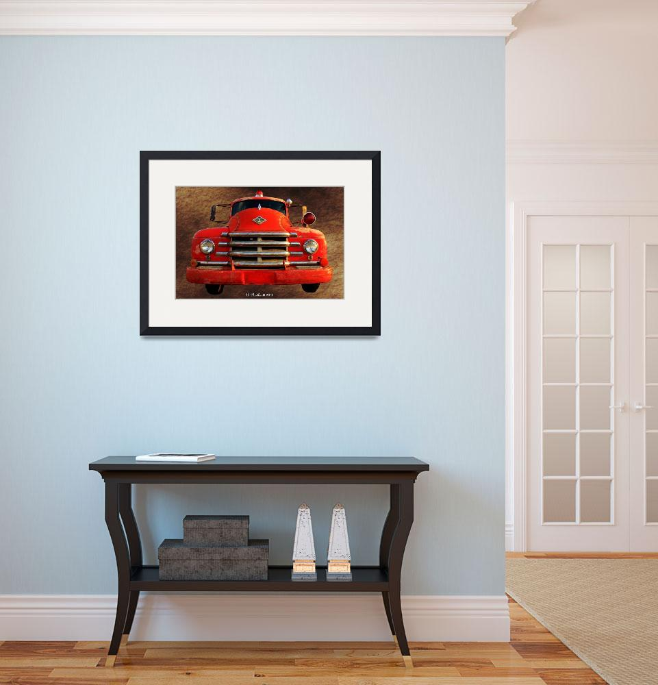 """""""1955 Diamond T Grille - The Cadillac Of Trucks&quot  (2011) by bettynorthcutt"""