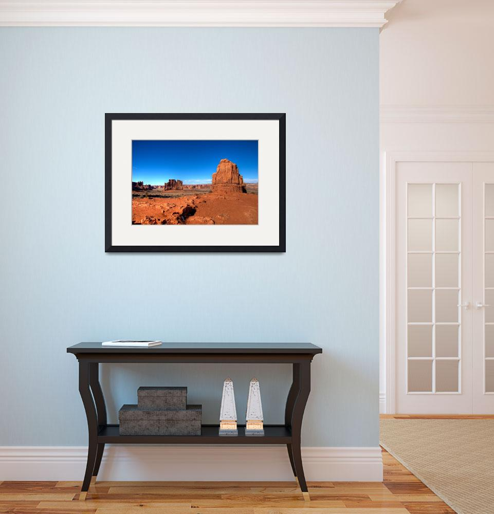"""""""Blue vs Red - Arches National Park,Utah, USA&quot  (2009) by miyuru"""