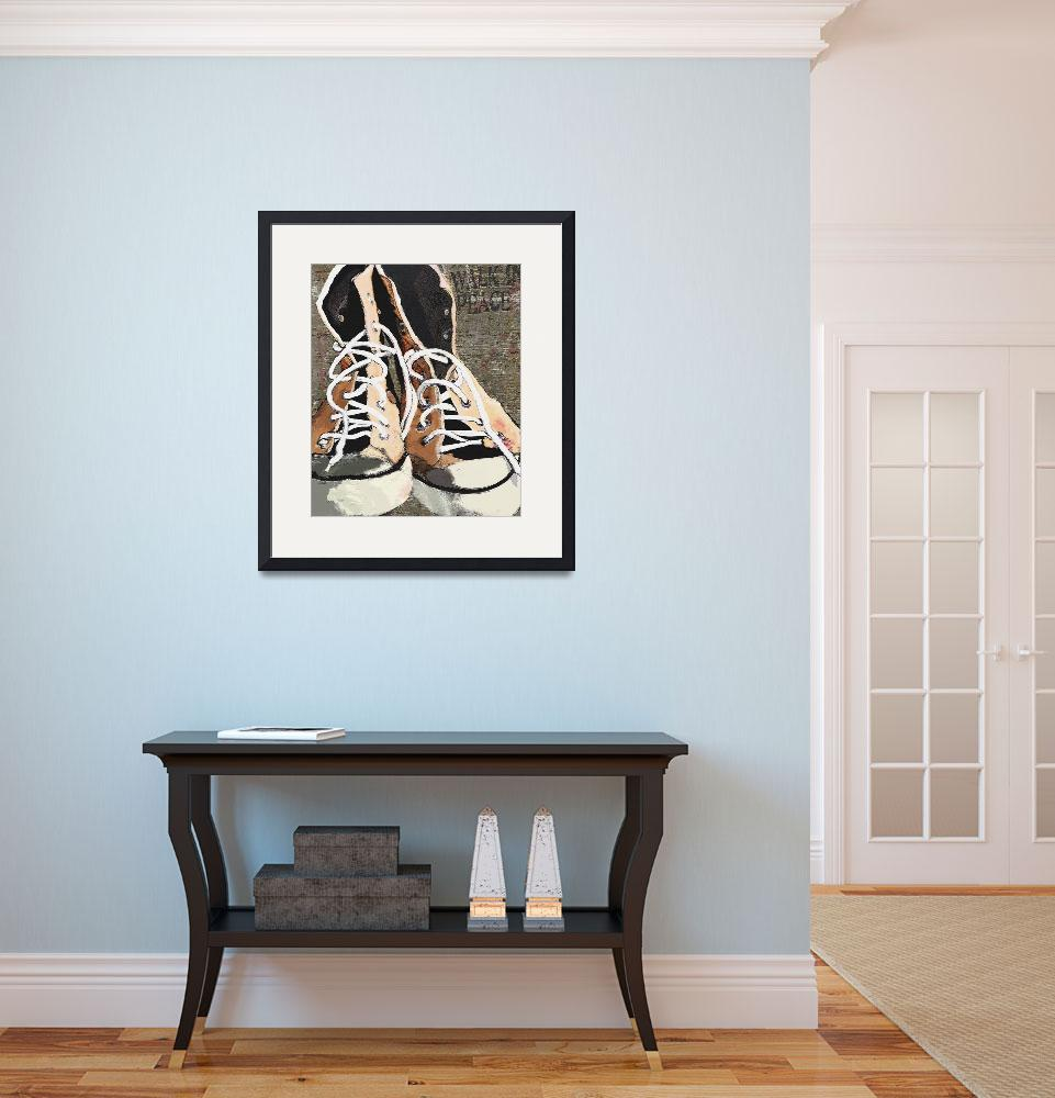 """""""HIGH TOPS FOR PEACE - VINTAGE SNEAKERS""""  (2008) by lisaweedn"""