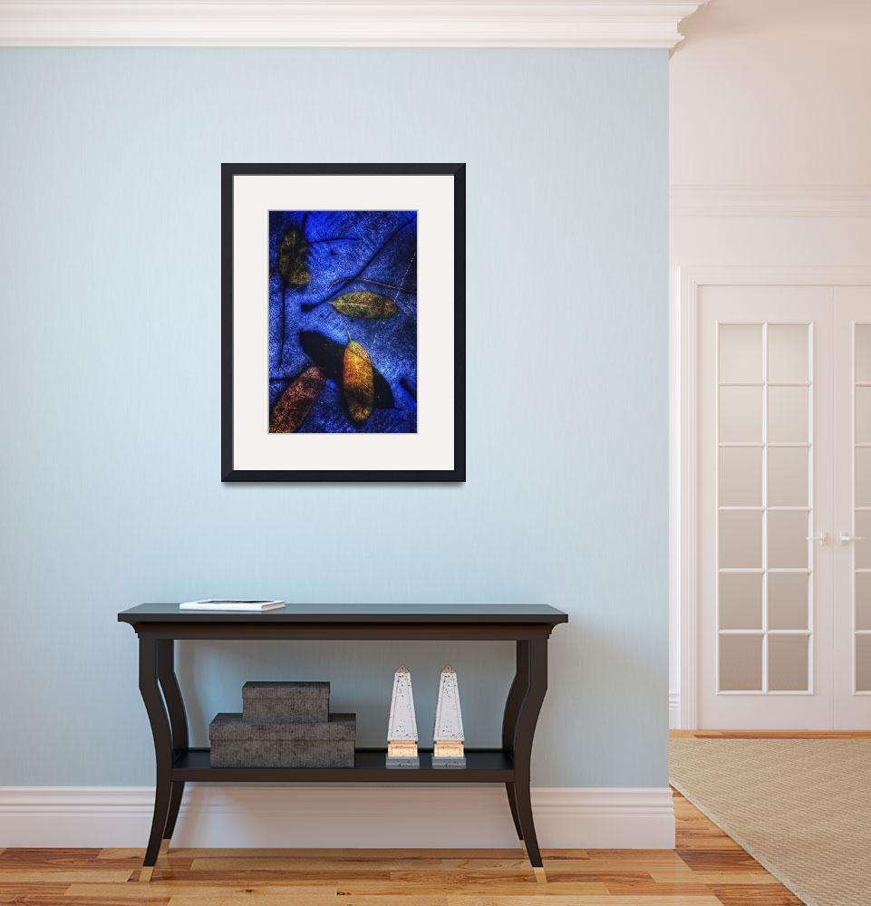 """""""Abstract Leaves on Blue, 2 April 2018&quot  (2018) by nawfalnur"""