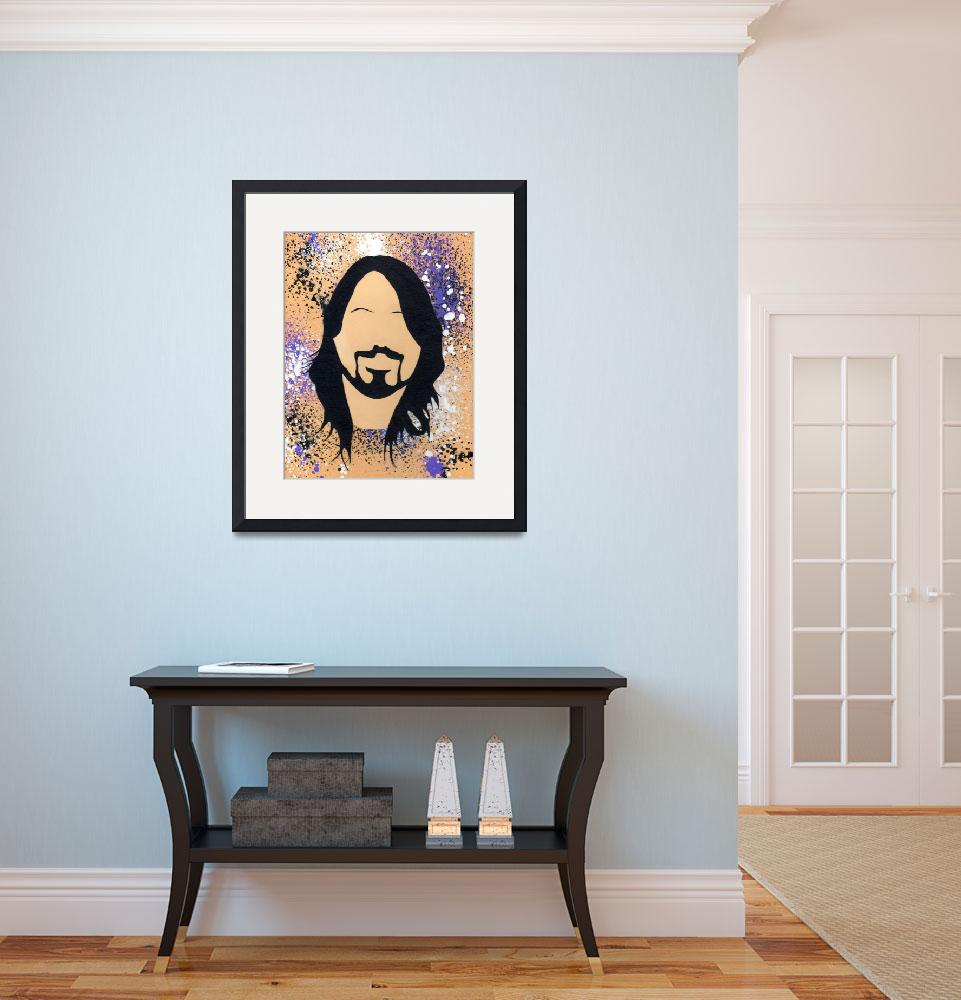"""""""D Grohl Silhouette&quot  (2015) by LimeCreekArt"""