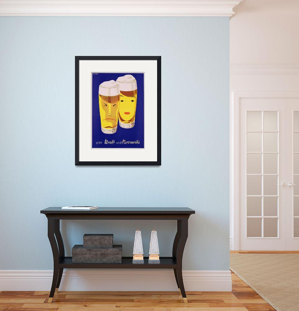 """Poster advertising German Beer&quot  by fineartmasters"