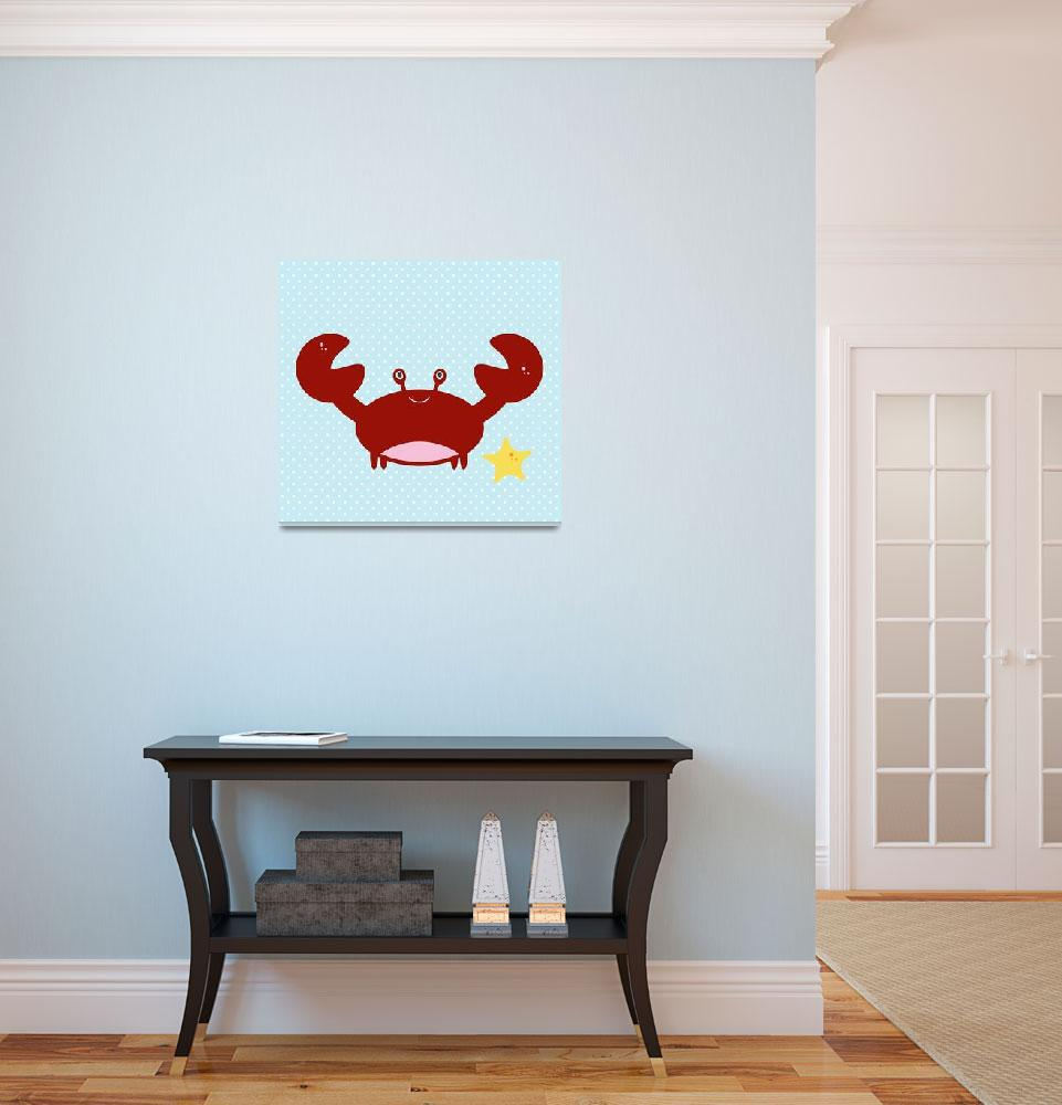 """""""crab(blue)&quot  by littlebubbies"""