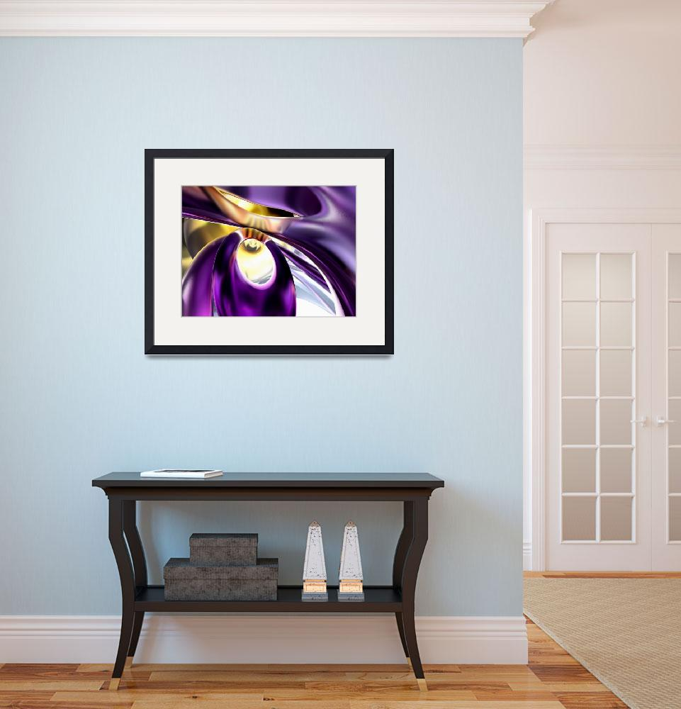 """""""Passionate Orchid Abstract&quot  (2012) by AlexButler"""