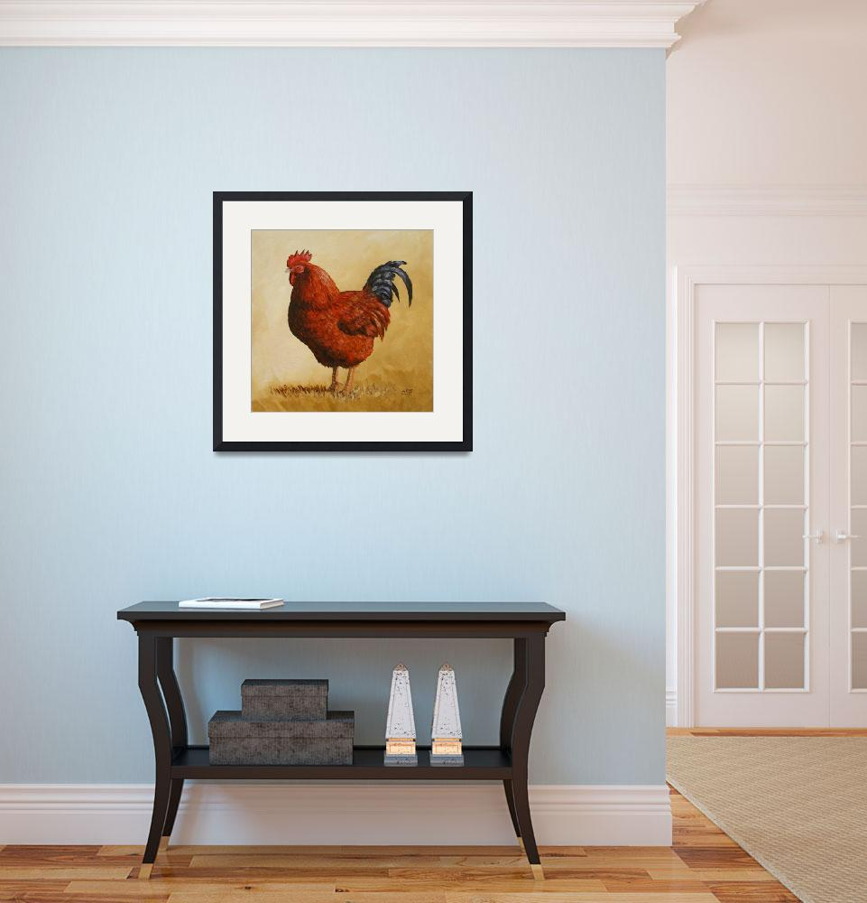 """""""Rhode Island Red Rooster""""  (2013) by csforest"""