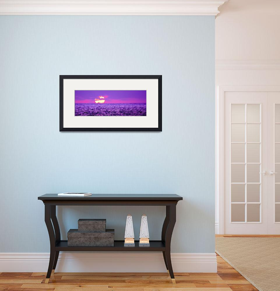 """""""Pink and Blue Sunset""""  (2009) by HowardBagley"""