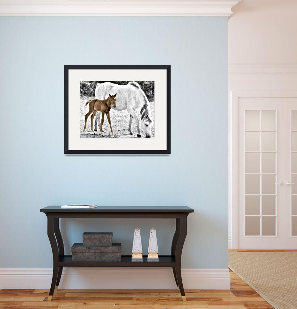 """""""Mother and Foal&quot  (2010) by barbee"""