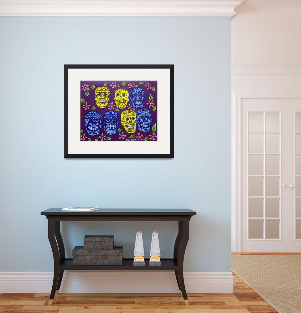 """""""Day of the Dead, Sugar Skulls - Mexican Folk Art&quot  by AVApostle"""