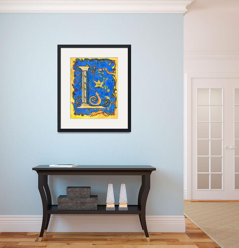 """""""Medieval Letter L&quot  (2007) by Lenora"""