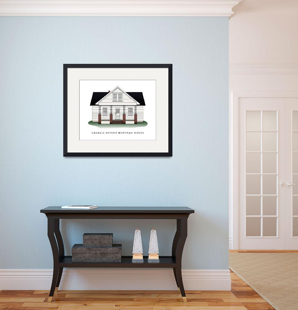 """""""Charlie Bryant Huffman House&quot  (2008) by ArchiPrints"""