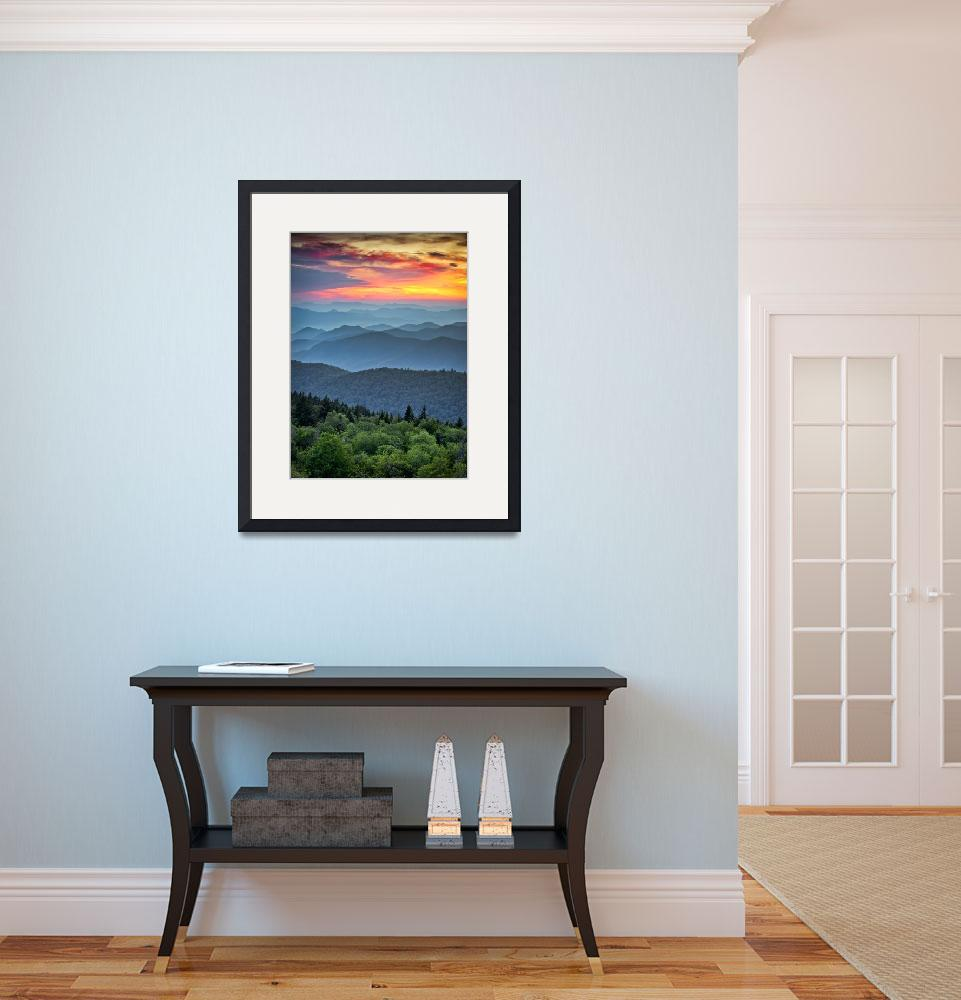 """""""Blue Ridge Parkway Sunset - The Great Blue Yonder&quot  (2011) by DAPhoto"""