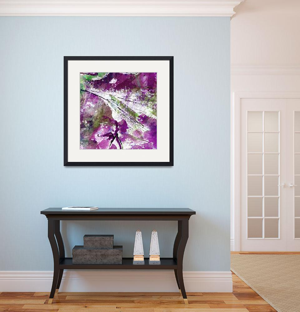 """""""Intuitive Abstract Art Purple&quot  (2015) by GinetteCallaway"""