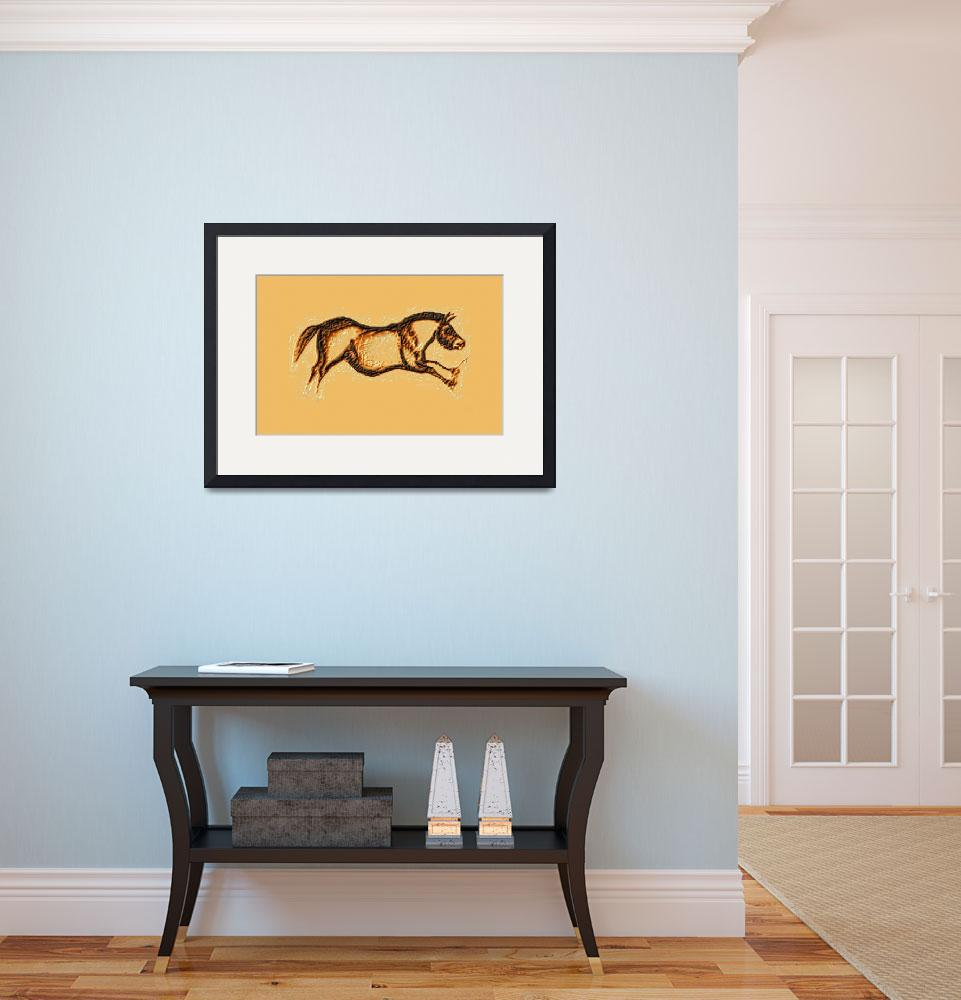 """""""Prehistoric Galloping Horse Brown&quot  (2014) by TheNorthernTerritory"""