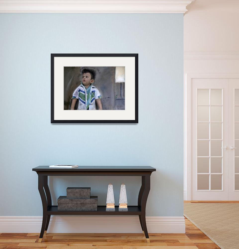 """""""Realistic Painting of a little Kid&quot  (2011) by masaad"""