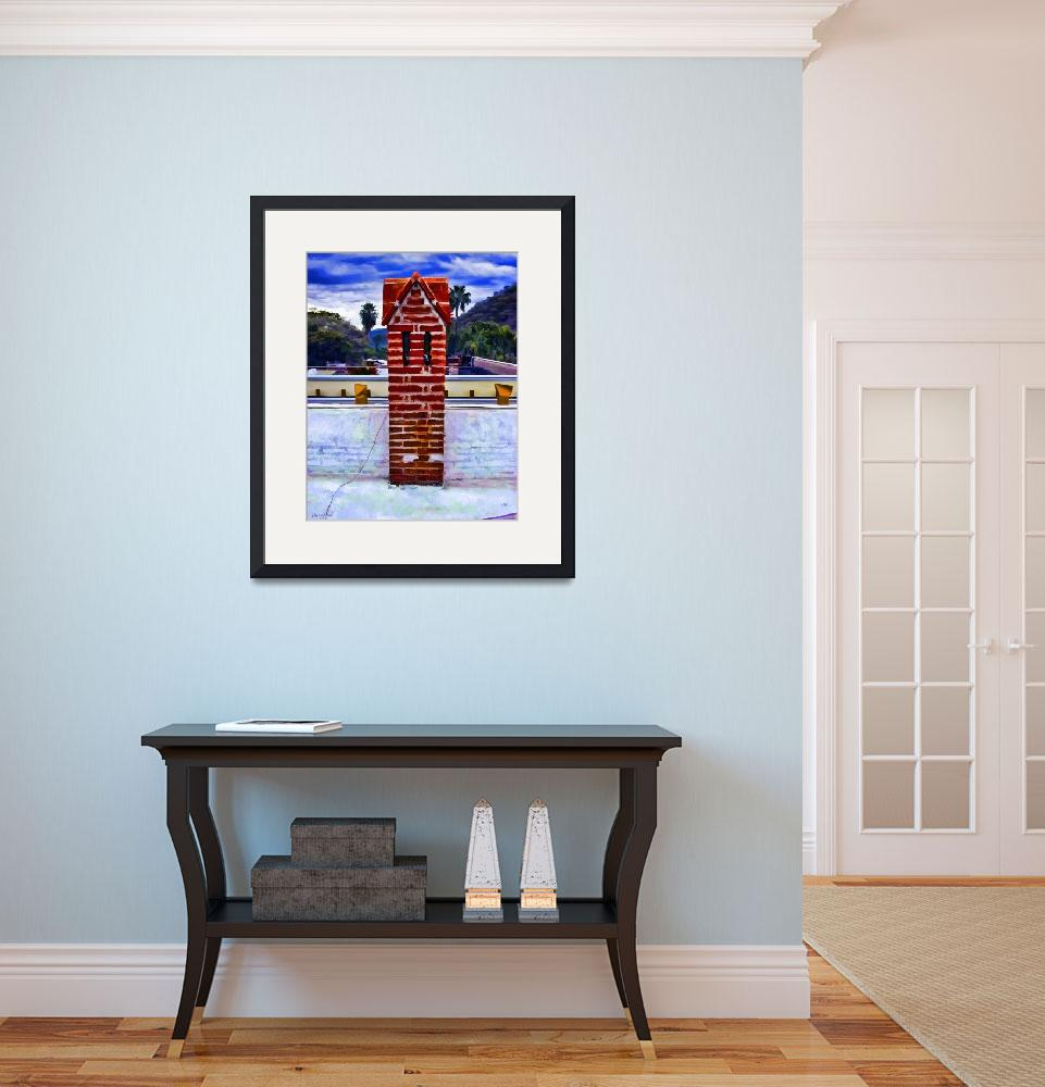 """Red Brick Chimney Stack&quot  (2009) by johncorney"
