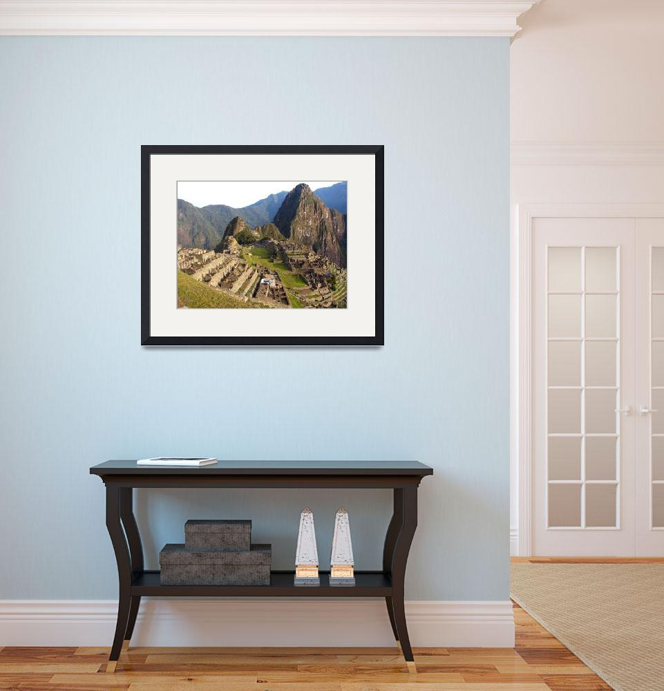 """""""Machu Picchu from higher point at dawn&quot  (2010) by Maly"""