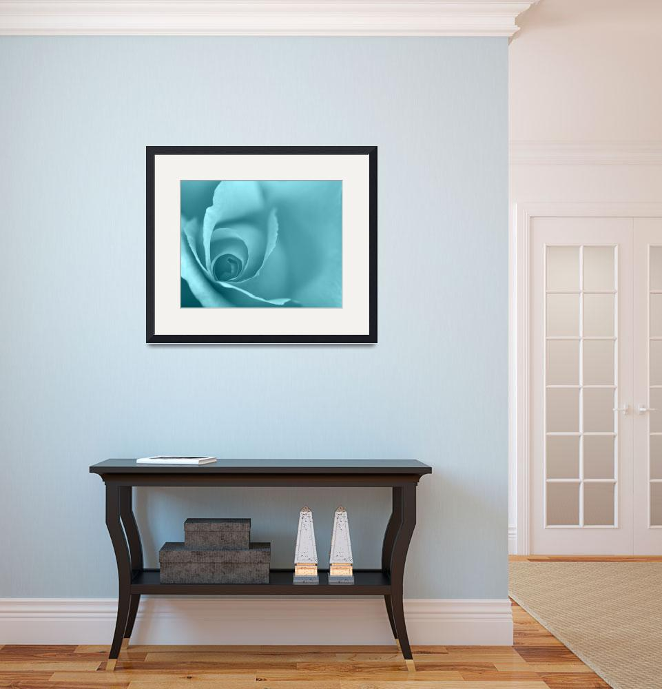 """Pale Turquoise Floral Wall Art""  (2012) by NatalieKinnear"