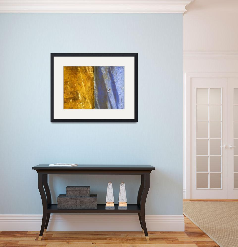 """""""Faded Yellow and Blue Plaster Walls Meet&quot  (2011) by Oldworldphoto"""