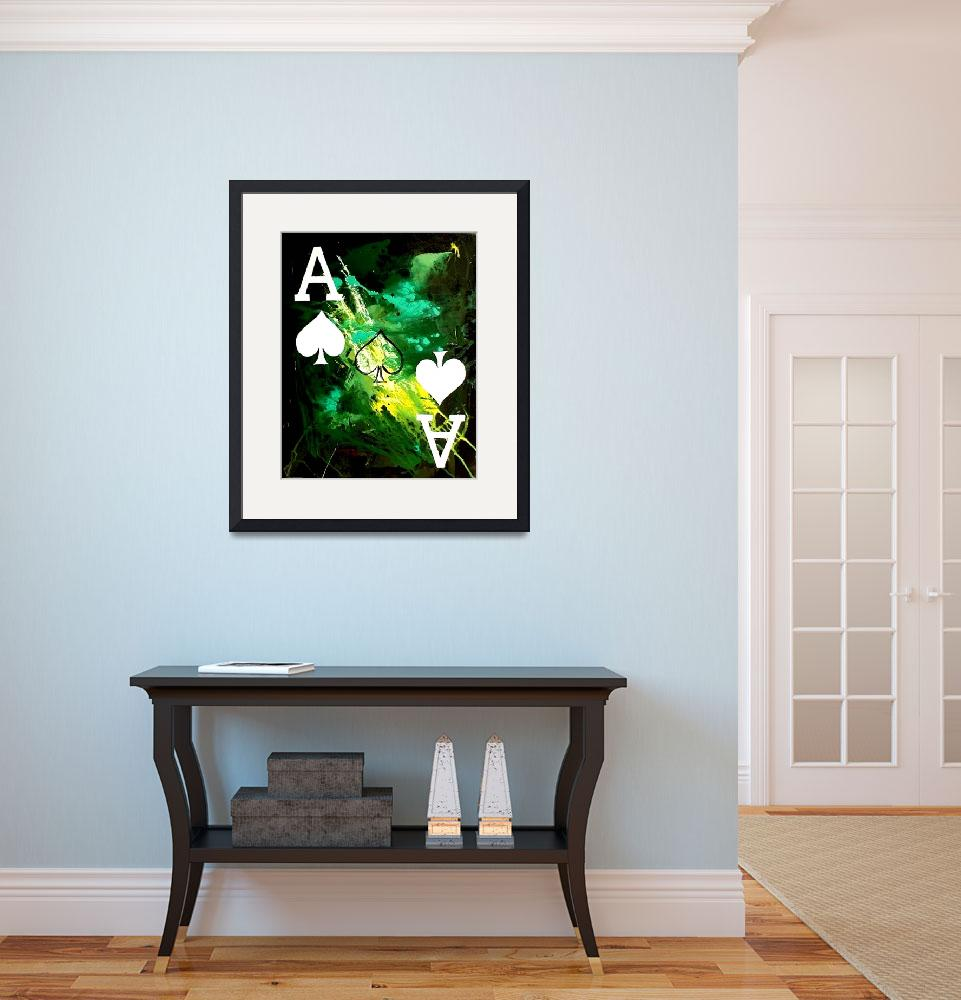 """""""ABSTRACT GALAXY ACES POKER ART OF SPADES&quot  by teofaith"""
